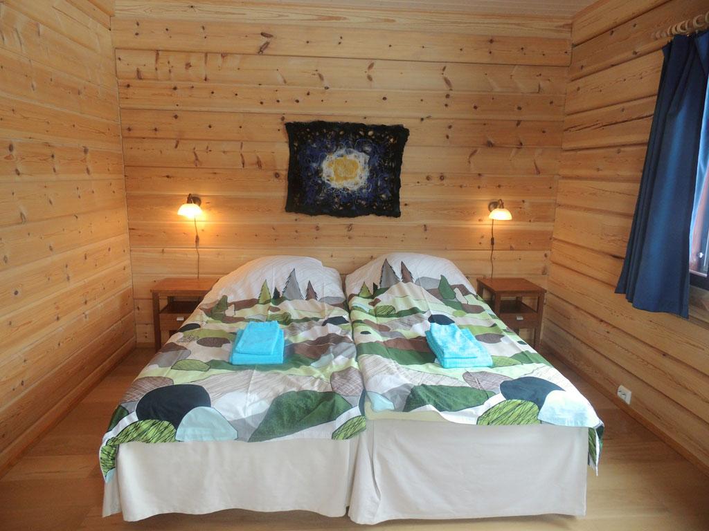 Doppelzimmer in Ivalo, Lappland, Finnland.