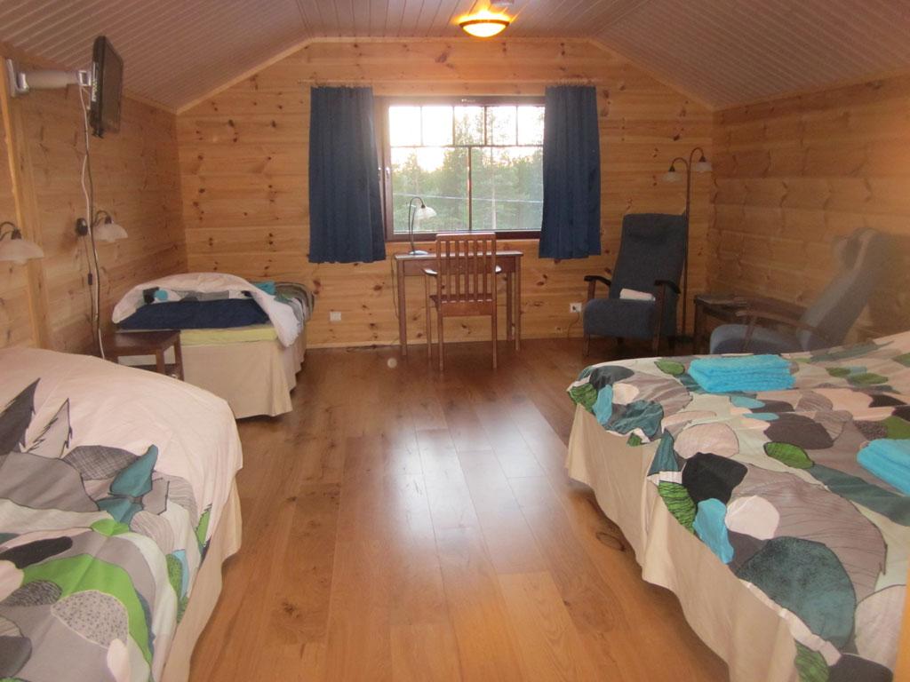 Vierbettzimmer in Ivalo, Lappland, Finnland.