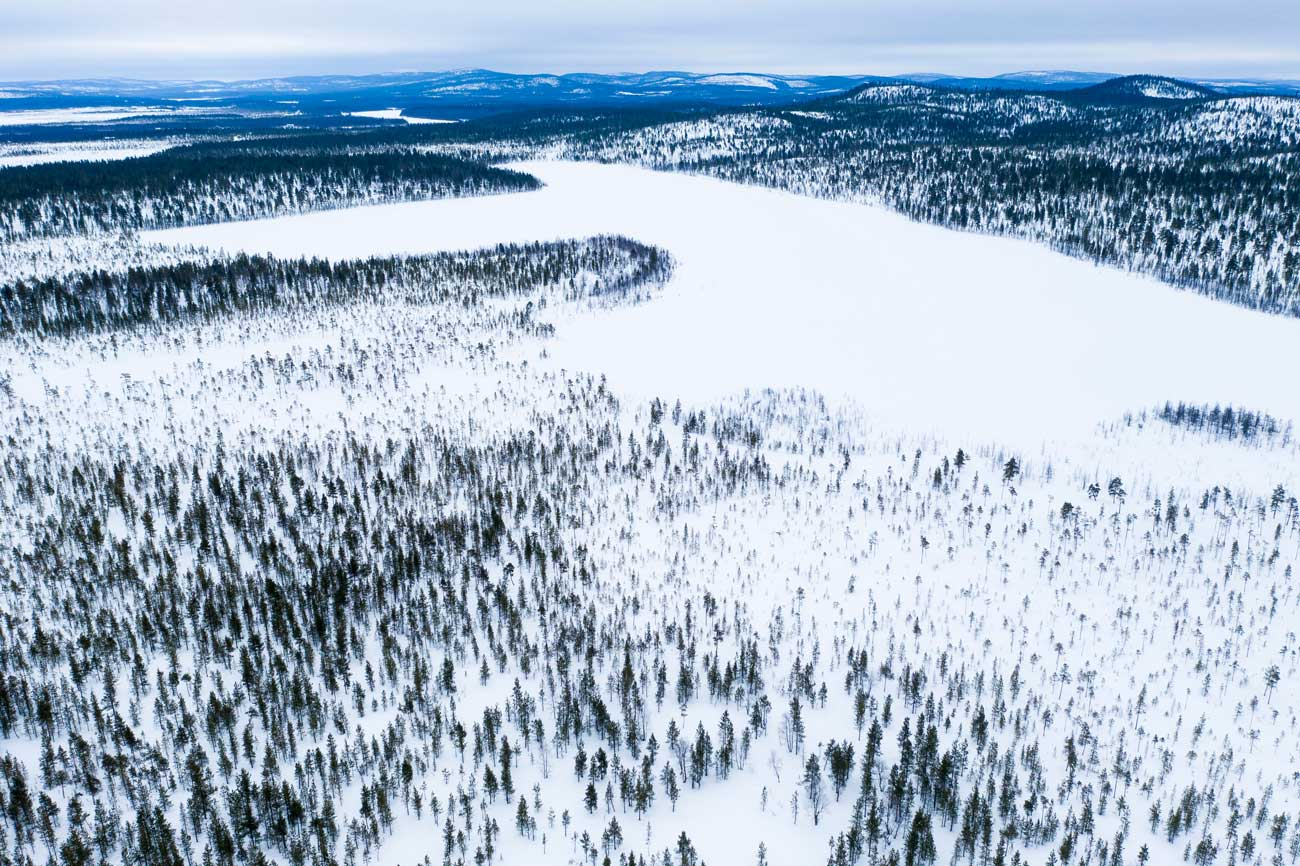 In the middle of pure nature - Lapland, Finland.