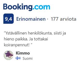 Booking.com arvio 9,4 Erinomainen - 177 arviota.