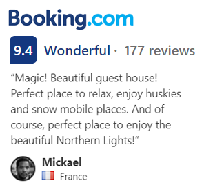Booking.com 9,4 Wonderful - 177 reviews.