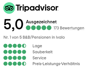 Tripadvisor 5,0 Ausgezeichnet, 173 Bevertungen.