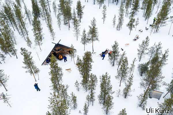 Husky Safari in Lappland, Finnland. Foto: Uli Kunz.